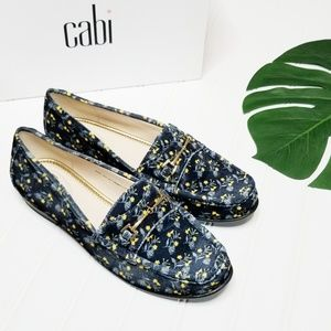 NWT Cabi | Carnaby Blue Floral Velvet Loafers | 9